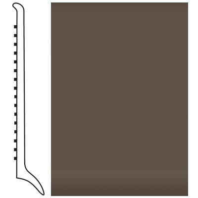 Roppe Pinnacle Rubber Wall Base 4 (Long Toe Base) Light Brown 147