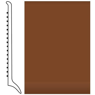 Roppe Pinnacle Rubber Wall Base 4 (Long Toe Base) Nutmeg 623