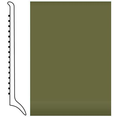 Roppe Pinnacle Rubber Wall Base 4 (Long Toe Base) Olive 634