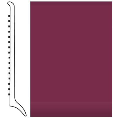 Roppe Pinnacle Rubber Wall Base 4 (Long Toe Base) Plum 620