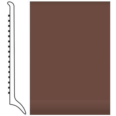 Roppe Pinnacle Rubber Wall Base 4 (Long Toe Base) Russet 181