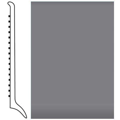 Roppe Pinnacle Rubber Wall Base 4 (Long Toe Base) Steel Gray 148