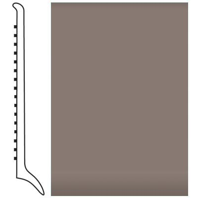 Roppe Pinnacle Rubber Wall Base 4 (Long Toe Base) Taupe 124