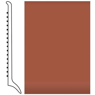 Roppe Pinnacle Rubber Wall Base 4 (Long Toe Base) Terracotta 617