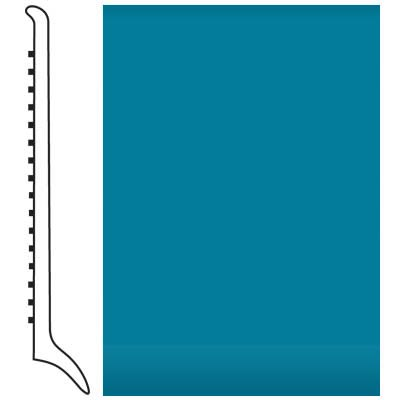 Roppe Pinnacle Rubber Wall Base 4 (Long Toe Base) Tropical Blue 606