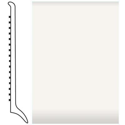 Roppe Pinnacle Rubber Wall Base 4 (Long Toe Base) White 170
