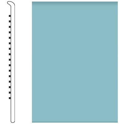 Roppe Pinnacle Rubber Wall Base 4 (No Toe Base) Turquoise 146