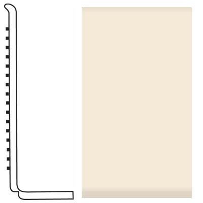 Roppe Pinnacle Rubber Wall Base 4 (Sanitary Toe Base) Bisque 131