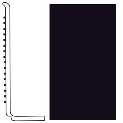 Roppe Pinnacle Rubber Wall Base 4 (Sanitary Toe Base) Black 100