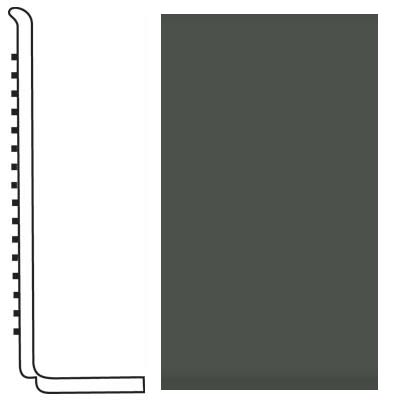 Roppe Pinnacle Rubber Wall Base 4 (Sanitary Toe Base) Black Brown 193