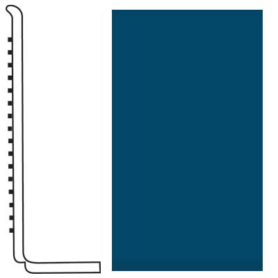 Roppe Pinnacle Rubber Wall Base 4 (Sanitary Toe Base) Blue 187