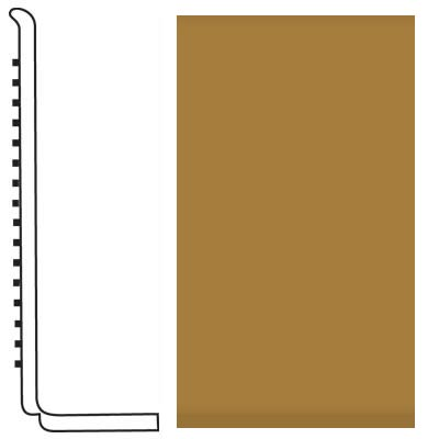 Roppe Pinnacle Rubber Wall Base 4 (Sanitary Toe Base) Brass 622