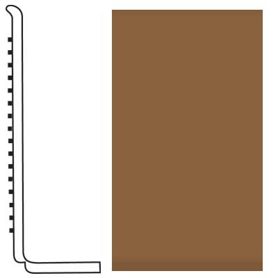 Roppe Pinnacle Rubber Wall Base 4 (Sanitary Toe Base) Bronze 625