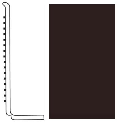 Roppe Pinnacle Rubber Wall Base 4 (Sanitary Toe Base) Brown 110