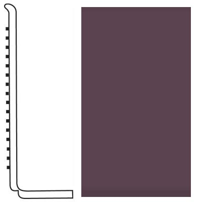 Roppe Pinnacle Rubber Wall Base 4 (Sanitary Toe Base) Burgundy 185