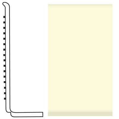Roppe Pinnacle Rubber Wall Base 4 (Sanitary Toe Base) Cream 615