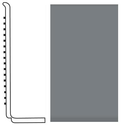 Roppe Pinnacle Rubber Wall Base 4 (Sanitary Toe Base) Dark Gray 150