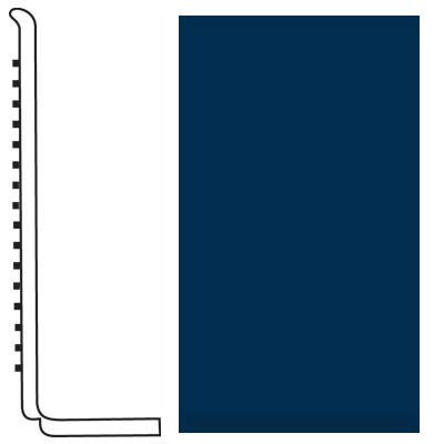 Roppe Pinnacle Rubber Wall Base 4 (Sanitary Toe Base) Deep Navy 139
