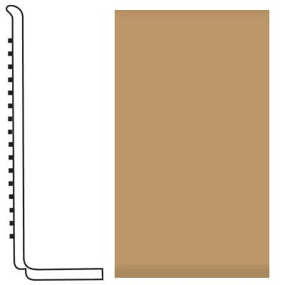 Roppe Pinnacle Rubber Wall Base 4 (Sanitary Toe Base) Flax 632