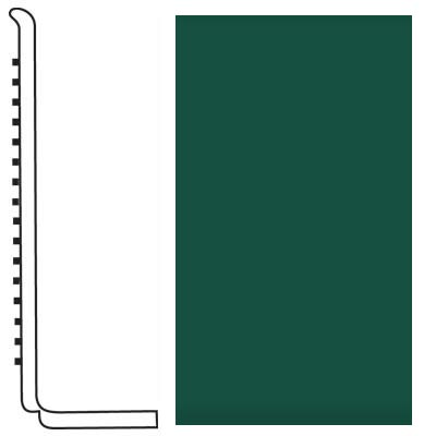 Roppe Pinnacle Rubber Wall Base 4 (Sanitary Toe Base) Forest Green 160