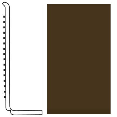 Roppe Pinnacle Rubber Wall Base 4 (Sanitary Toe Base) Java 619