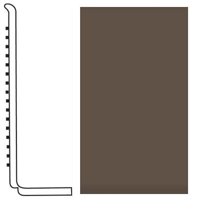 Roppe Pinnacle Rubber Wall Base 4 (Sanitary Toe Base) Light Brown 147