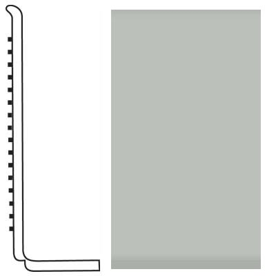 Roppe Pinnacle Rubber Wall Base 4 (Sanitary Toe Base) Light Gray 195