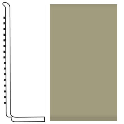 Roppe Pinnacle Rubber Wall Base 4 (Sanitary Toe Base) Moss 116