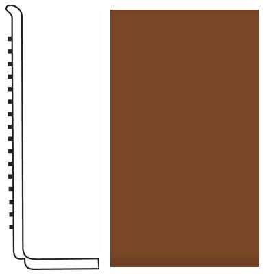 Roppe Pinnacle Rubber Wall Base 4 (Sanitary Toe Base) Nutmeg 623