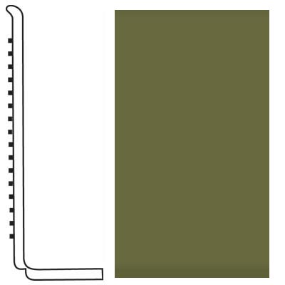 Roppe Pinnacle Rubber Wall Base 4 (Sanitary Toe Base) Olive 634