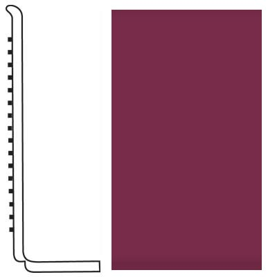 Roppe Pinnacle Rubber Wall Base 4 (Sanitary Toe Base) Plum 620