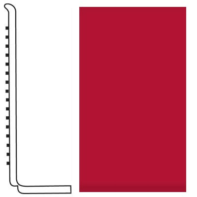 Roppe Pinnacle Rubber Wall Base 4 (Sanitary Toe Base) Red 186