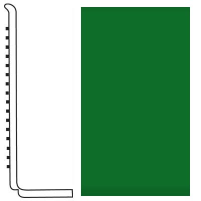 Roppe Pinnacle Rubber Wall Base 4 (Sanitary Toe Base) Shamrock 628