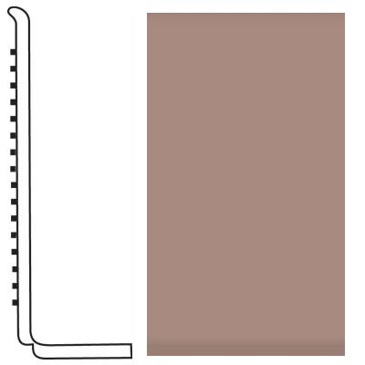 Roppe Pinnacle Rubber Wall Base 4 (Sanitary Toe Base) Spice 167