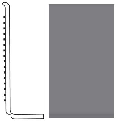 Roppe Pinnacle Rubber Wall Base 4 (Sanitary Toe Base) Steel Gray 148