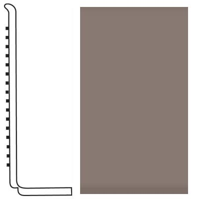 Roppe Pinnacle Rubber Wall Base 4 (Sanitary Toe Base) Taupe 124