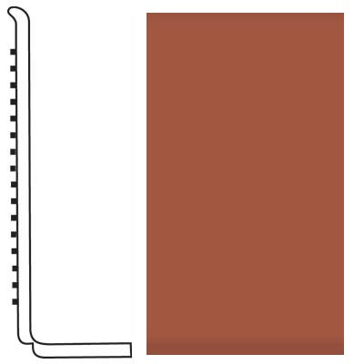 Roppe Pinnacle Rubber Wall Base 4 (Sanitary Toe Base) Terracotta 617
