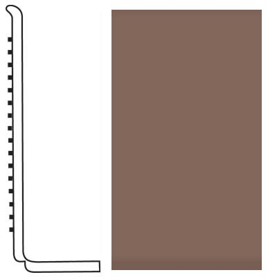 Roppe Pinnacle Rubber Wall Base 4 (Sanitary Toe Base) Toffee 182