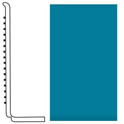Roppe Pinnacle Rubber Wall Base 4 (Sanitary Toe Base) Tropical Blue 606
