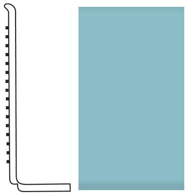 Roppe Pinnacle Rubber Wall Base 4 (Sanitary Toe Base) Turquoise 146