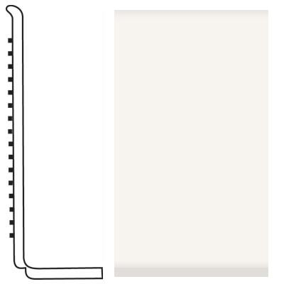 Roppe Pinnacle Rubber Wall Base 4 (Sanitary Toe Base) White 170
