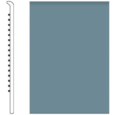 Roppe Pinnacle Rubber Wall Base 5 No Toe Base Colonial Blue 165