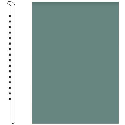 Roppe Pinnacle Rubber Wall Base 5 No Toe Base Hunter Green 169