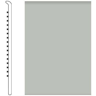 Roppe Pinnacle Rubber Wall Base 5 No Toe Base Light Gray 195