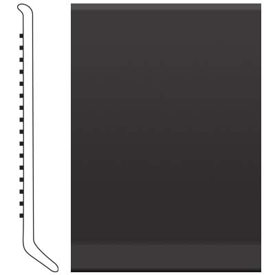 Roppe Pinnacle Rubber Wall Base 5 (Cove Base) Black 100