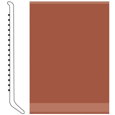 Roppe Pinnacle Rubber Wall Base 5 (Cove Base) Brick 188