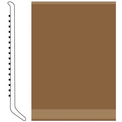 Roppe Pinnacle Rubber Wall Base 5 (Cove Base) Bronze 625