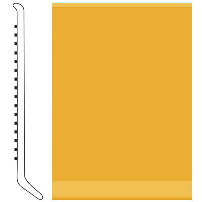 Roppe Pinnacle Rubber Wall Base 5 (Cove Base) Golden 629