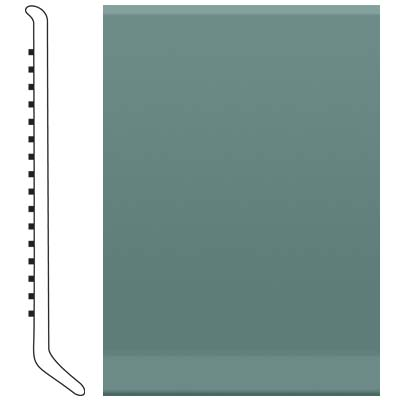 Roppe Pinnacle Rubber Wall Base 5 (Cove Base) Hunter Green 169
