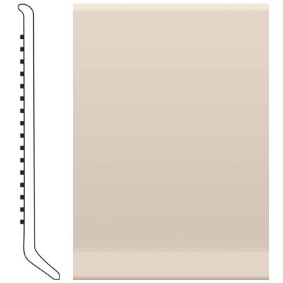 Roppe Pinnacle Rubber Wall Base 5 (Cove Base) Ivory 198
